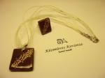 Barna-bronz gyűrű-nyaklánc szett 3400.- Ft/szett (szatén-zsinór szereléken)